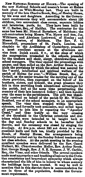 File:Huddersfield Chronicle 07 June 1873 - New National Schools at Helme.png