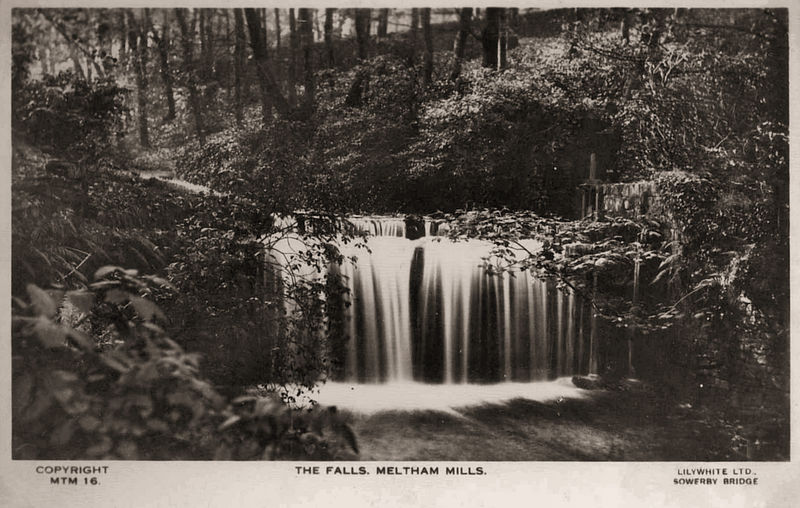 File:Undated postcard of The Falls, Meltham Mills.jpg