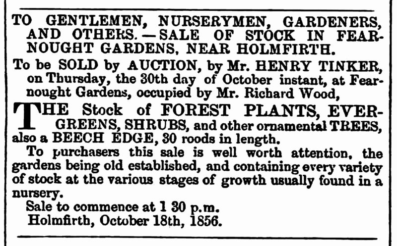 File:Huddersfield Chronicle 25 Oct 1856 - Fearnought Gardens.png