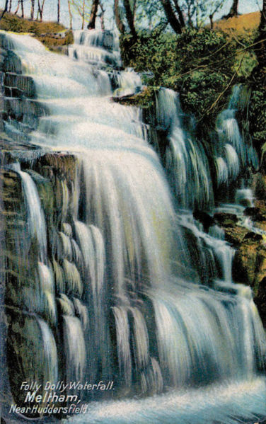 File:1910s postcard captioned Folly Dolly Waterfall, Meltham, Huddersfield.jpg