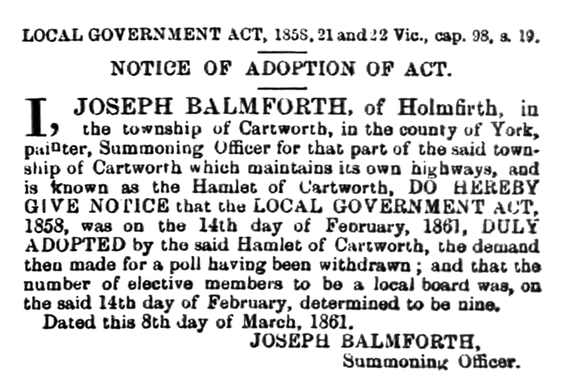 File:Cartworth - Huddersfield Chronicle 16 March 1861.png