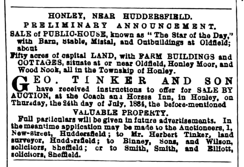 File:Huddersfield Chronicle 28 June 1884 - Star of the Day.png