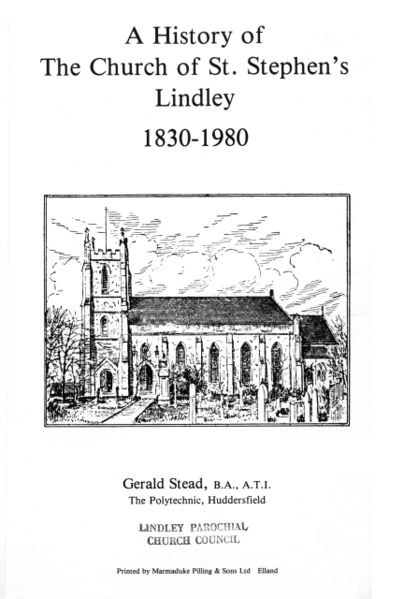File:A History of the Church of St. Stephen's Lindley 1830-1980 (1980) by Gerald Stead.jpg