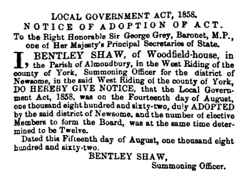 File:Newsome - Huddersfield Chronicle 16 August 1862.png