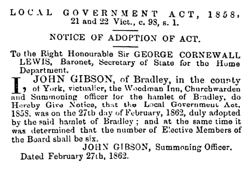 File:Bradley - Huddersfield Chronicle 15 March 1862.png