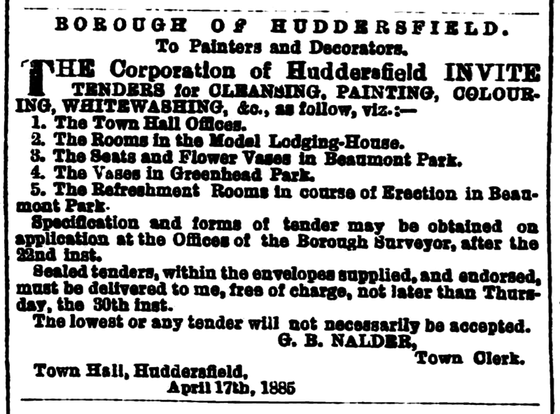 File:Huddersfield Chronicle 18 April 1885 - Contacts (1).png