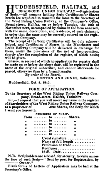 File:Huddersfield, Halifax and Bradford Union Railway (31 Oct 1846).png