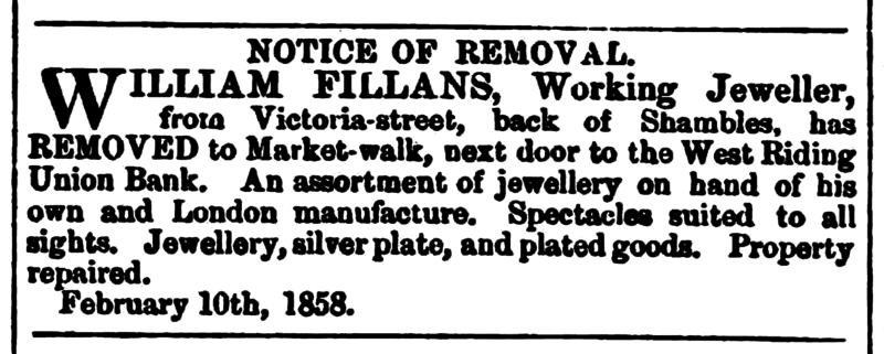 File:Huddersfield Chronicle 13 Feb 1858 William Fillans.png