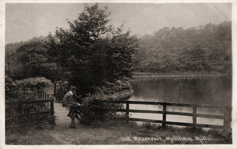 File:1912 postcard captioned Reservoir, Meltham Mills (1808).jpg