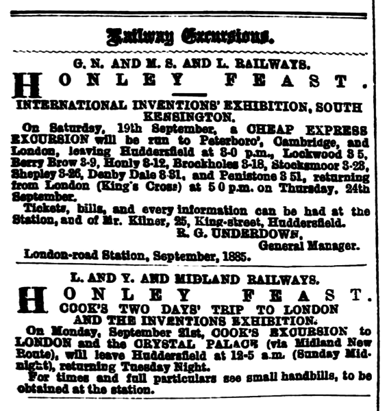 File:Huddersfield Chronicle 12 Sep 1885 - Railway Excursions.png
