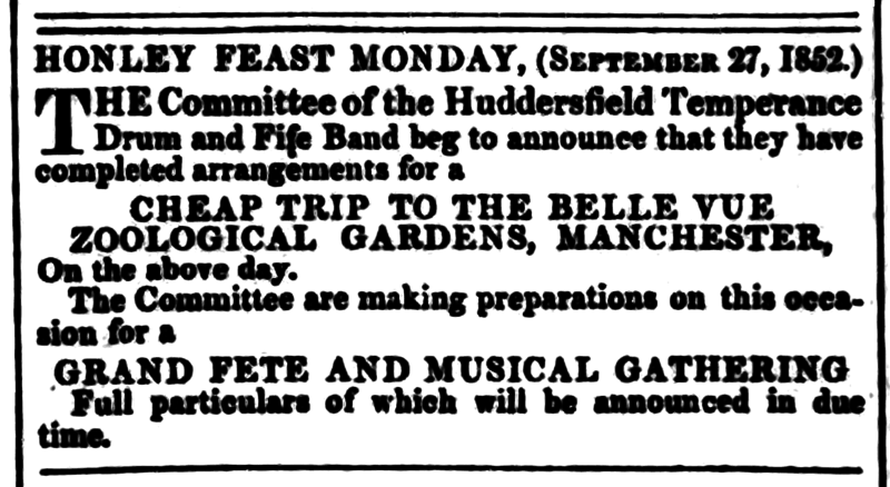 File:Huddersfield and Holmfirth Examiner 28 August 1852 - Honley Feast Monday.png