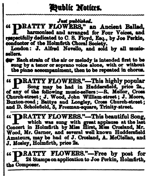 File:Huddersfield Chronicle 02 January 1858 - Public Notices, Pratty Flowers.png