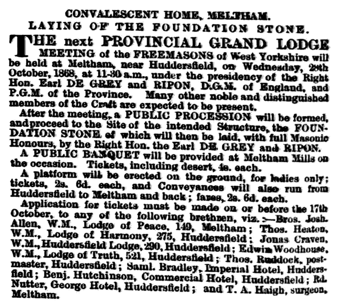 File:Huddersfield Chronicle 10 Oct 1868 Public Notices.png