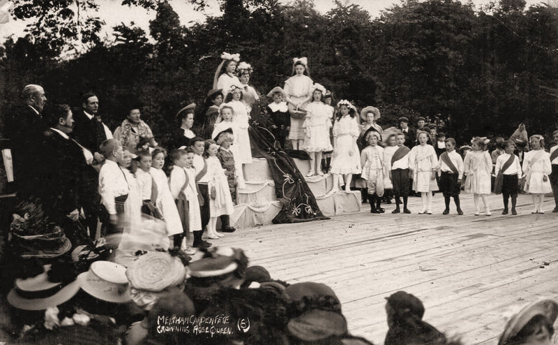 File:Undated photograph captioned Meltham Garden Fete, Crowning Rose Queen (8).jpg
