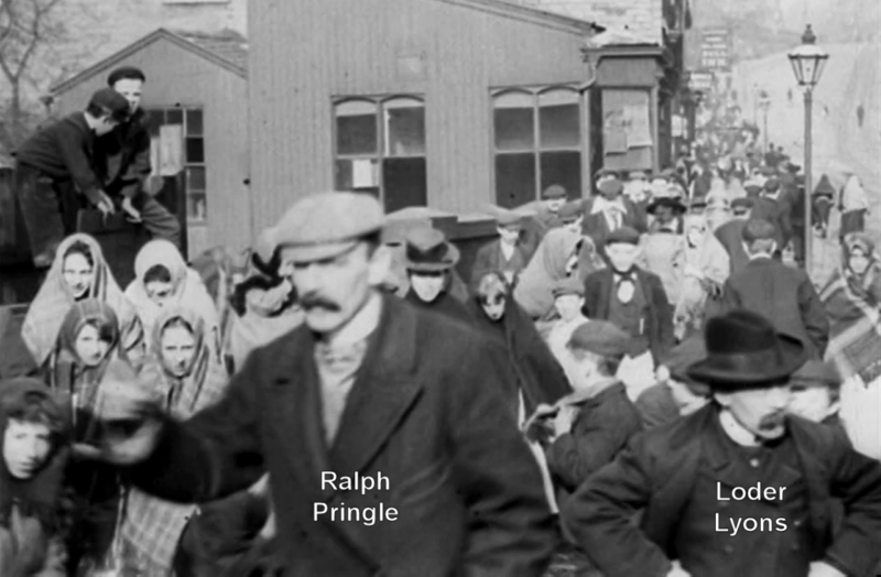 File:Employees of Messrs Lumb and Co. Leaving the Works, Huddersfield (1900) - Pringle and Lyons.png