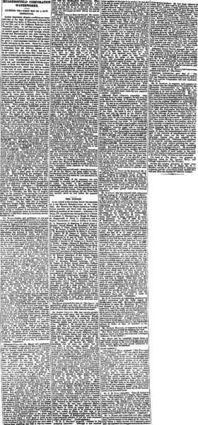 File:Huddersfield Daily Chronicle 28 Aug 1891 - Huddersfield Corporation Waterworks.png