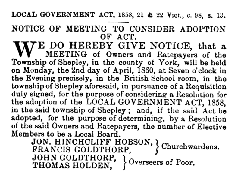 File:Shepley - Huddersfield Chronicle 17 Mar 1860.png
