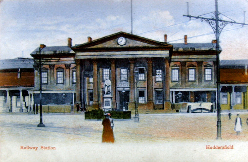 File:Milton Artlette series poster of Huddersfield Railway Station (no.120).jpg