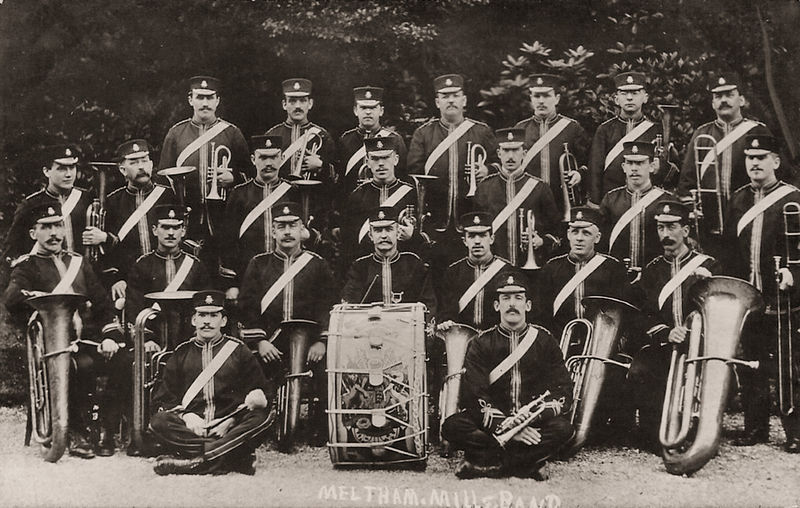 File:Early 1900s postcard of the Meltham Mills Band.jpg