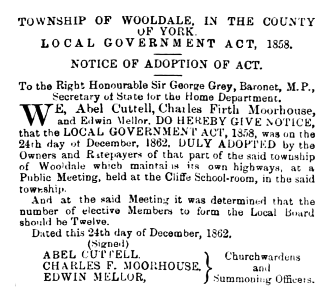 File:Wooldale - Huddersfield Chronicle 03 January 1863.png