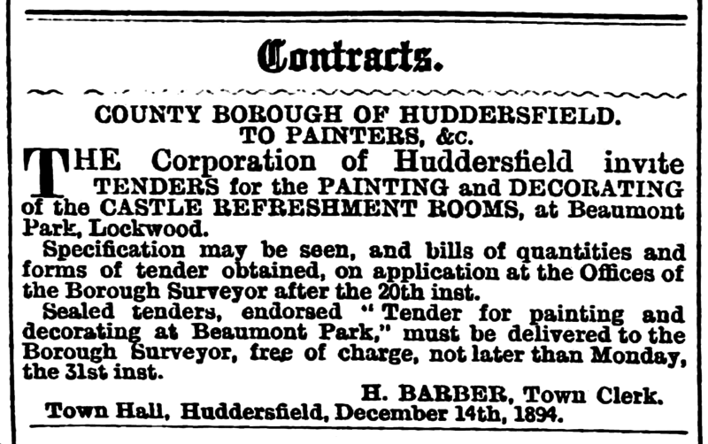 File:Huddersfield Chronicle 15 December 1894 - Contracts.png