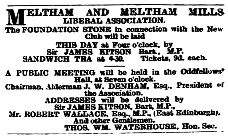 File:Huddersfield Chronicle 14 July 1894 - Meltham and Meltham Mills Liberal Association.png