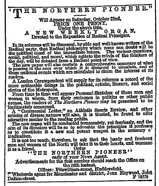 File:Leeds Mercury 08 Oct 1881 - Publications The Northern Pioneer.png