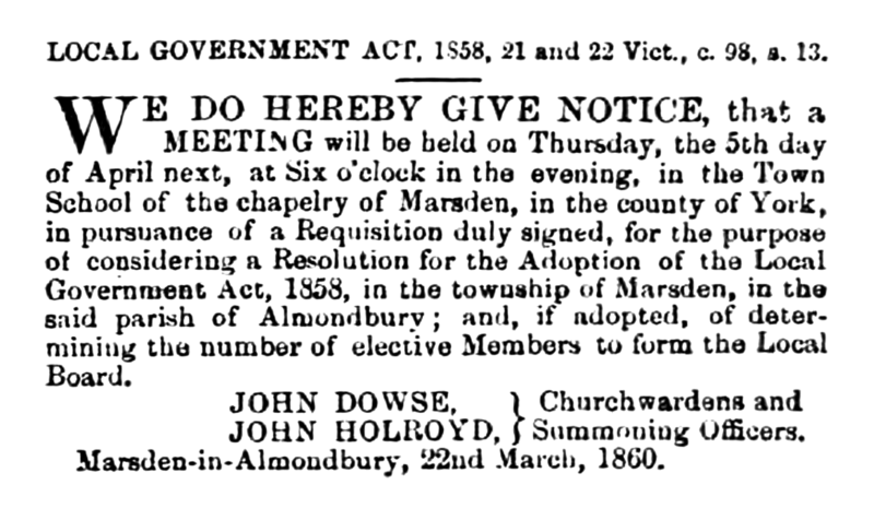 File:Marsden in Almondbury - Huddersfield Chronicle 24 March 1860.png